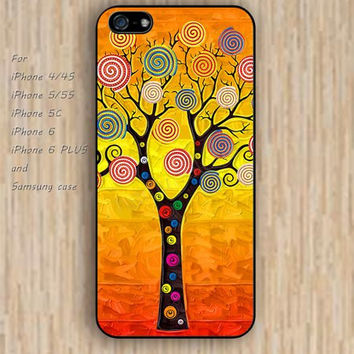 iPhone 5s 6 case watercolor tree case dream catcher colorful phone case iphone case,ipod case,samsung galaxy case available plastic rubber case waterproof B587