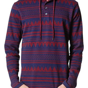 On The Byas Willis Jacquard Hoodie - Mens Shirt - Red