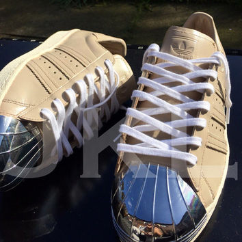 Adidas 'NUDE' Superstar 80s metal toe custom '16