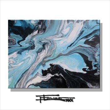 Modern Resin Coated Painting - Limited Edition Giclee ELOISExxx