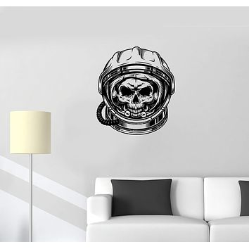 Wall Decal Astronaut Spacesuit Space Universe Skull Skeleton Vinyl Sticker (ed1258)