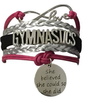 Gymnastics She Believed She Could So She Did Infinity Bracelet