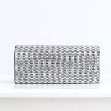 Sparkle & Rectangle Stone Front Clutch
