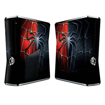 Spider man sticker skin set for Xbox 360 slim