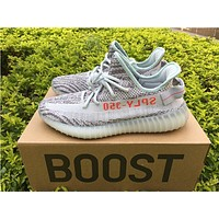 Sale Kanye West x Adidas Yeezy 350 V2 Boost Blue Tint Sport Shoes Running Shoes B37571