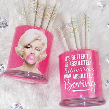 Marilyn Monroe ||  Makeup Brush Holders || 2 Pieces