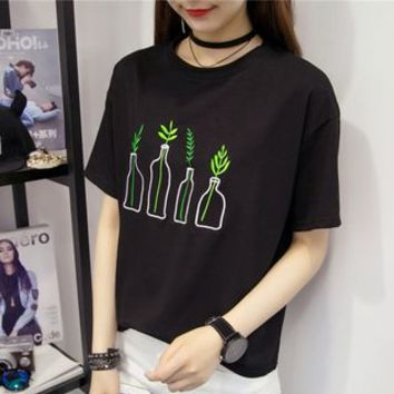 Buy Fairy Essential Embroidered Short-Sleeve T-Shirt | YesStyle