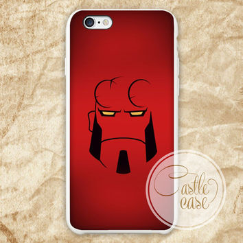 Minimalistic Hellboy Red iPhone 4/4S, 5/5S, 5C Series Hard Plastic Case