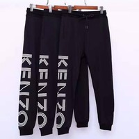 KENZO Trending Popular Women Men Casual Print Sport Pants Trousers Sweatpants