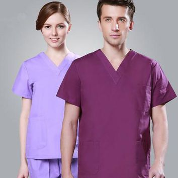 Europe style Fashion Medical Suit Lab Coat Women Hospital Scrub Uniforms
