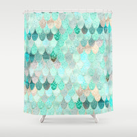 SUMMER MERMAID Shower Curtain by Monika Strigel