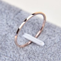2 Pcs Jewelry Fashion Simple Classic Fine Ring Unisex Rings Couple Rings Wedding Rings Valentine's Day Gifts