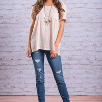 The Meredith Tee, Oatmeal