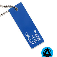 Phone Keys Wallet Keychain - Blue