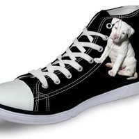 Pit bull High Top Unisex Canvas Shoes