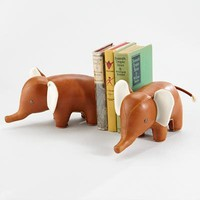 The Land of Nod: Kids' Desk Accessories: Classic Elephant Animal Bookend in Bookends