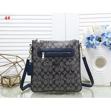 Coach Fashion New Pattern Leather Women Shopping Leisure Shoulder Bag 4#
