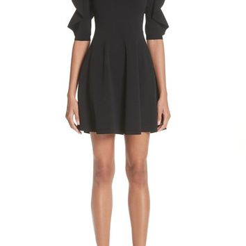 Valentino Lace Inset Ruffle Sleeve Dress | Nordstrom