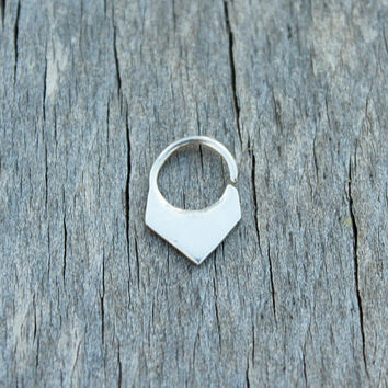 septum ring tribal septum sterling silver septum unisex septum for men septum jewelry men nose ring ethnic septum fashion septum goa style
