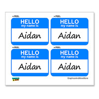 Aidan Hello My Name Is - Sheet of 4 Stickers