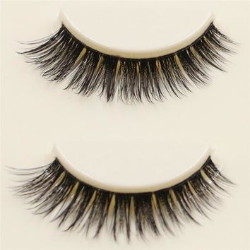 3 Pairs 3D Long Bushy False Eyelashes Handmade Natural Eyelash Soft Fiber Eye Lashes Extension Woman Makeup Beauty Tool