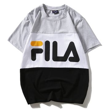 Fila Woman Men Fashion Casual Shirt Top Tee-1