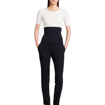 Narciso Rodriguez Bi-color Knit Top - White/black