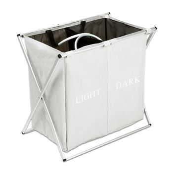 Oxford Laundry Basket Light Gray