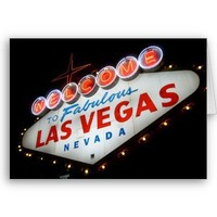 Welcome to Las Vegas Greeting Card from Zazzle.com