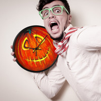 HALLOWEEN Wall CLOCK Pumpkin home decor unique Halloween wall decor