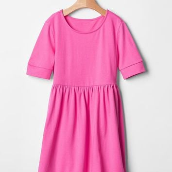 Gap Girls Shirred Babydoll Dress