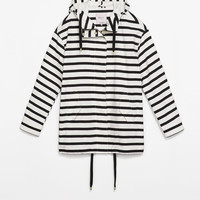 Striped parka
