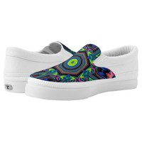 Psychedelic Neon Abstract Pattern Colorful Slip-On Sneakers