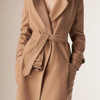Relaxed Fit Wool Cashmere Coat