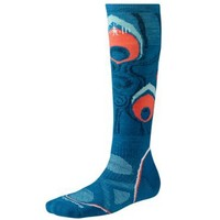 Smartwool Women's PhD Snowboard Medium Sock, Arctic Blue size M