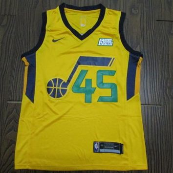 Men's Utah Jazz Donovan Mitchell #45 Fanatics Branded Gold Fast Break Replica Player Jersey - Statement Edition - Best Deal Online