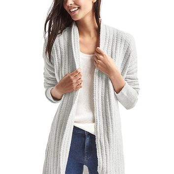 Bouclé shawl cardigan | Gap