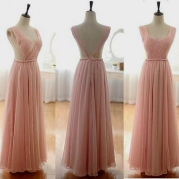 Simple Prom Dresses,Chiffon Prom Dresses,Long Evening Dress