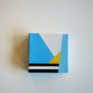 Tiny Canvas Painting / Geometric Art / Modern Abstract Art / Acrylic Canvas Painting / Wall Art / Home Decor