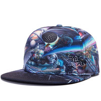 3D Distortion Snapback Hat