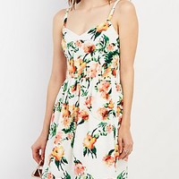 FLORAL PRINT STRAPPY DRESS