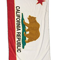 Clearance Sale! Plush Printed California Replublic Beach Towel