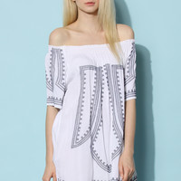 Boho All the Way Tunic in White White S/M