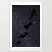 Peter Pan - Fly to Neverland  Art Print by amy.