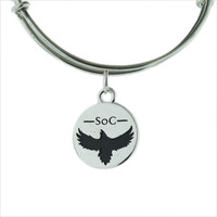 Six of Crows Silver Plated Charm