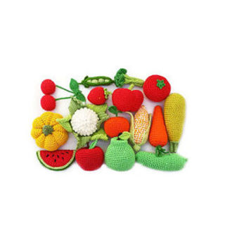 Crochet vegetables fruits 18 Pcs Birthday gifts Play food Kids gift Toys Waldorf toys Baby toys Baby gift Soft toys Organic Toys Christmas