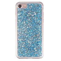 Blue Flakes iPhone Case