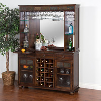 Sunny Designs Santa Fe Server and Back Bar - Home Bars at Hayneedle