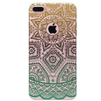 Hollow Out Boho Floral iPhone 7 7Plus & iPhone se 5s 6 6 Plus Case Cover +Gift Box-91
