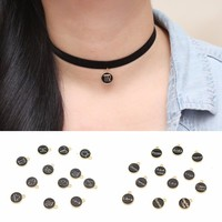 Zodiac Pendant Choker Necklace